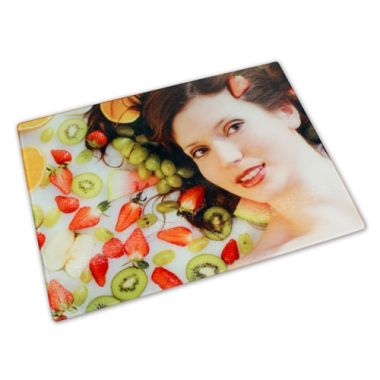 Glass cutting board, size 200 x 285 mm, 4 mm thick