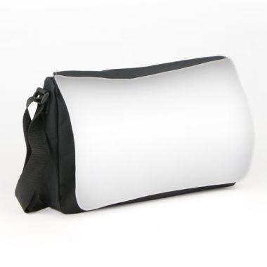 Schultertasche NEAPEL, Farbe Schwarz, Größe 340 x 200 x 80 mm