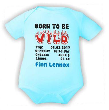 Baby Body Born to be Wild und Geburtsdaten des Babys