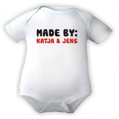 Baby Body Mady by und den Namen der Eltern
