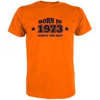 T-Shirt Born in / MIT IHRER JARESZAHL