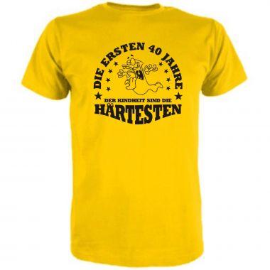 T-Shirt Die ersten 40 Jahre der Kindheit sind die schwersten
