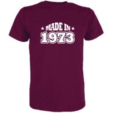 T-Shirt Made in / MIT IHRER JARESZAHL