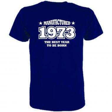 T-Shirt Manufacted / MIT IHRER JARESZAHL