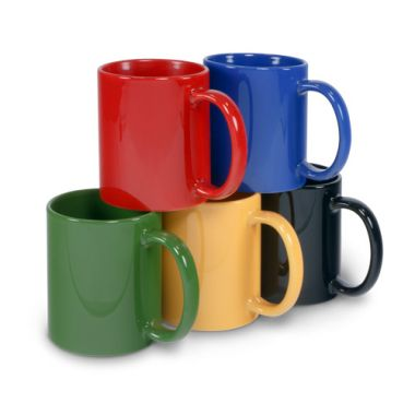 farbige Keramiktasse