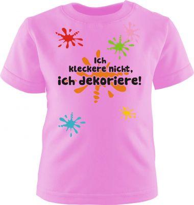 Baby und Kinder Kurzarm T-Shirt Ich kleckere Nicht ich dekoriere