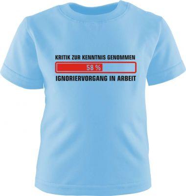 Baby und Kinder Kurzarm T-Shirt Ignoriervorgang eingeleitet