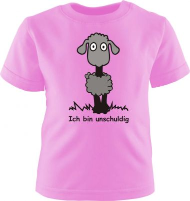 Baby und Kinder Kurzarm T-Shirt Ich bin unschuldig