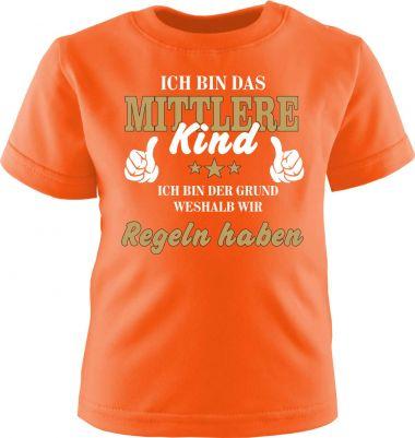 Baby und Kinder Kurzarm T-Shirt Ich bin das mittlere Kind