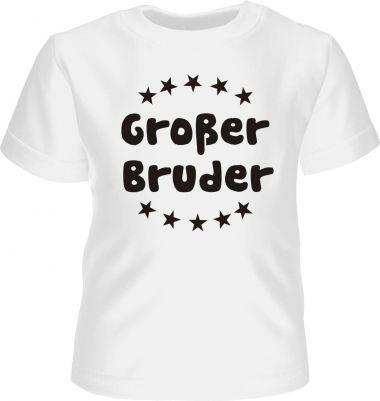 Baby und Kinder Kurzarm T-Shirt Grosser Bruder