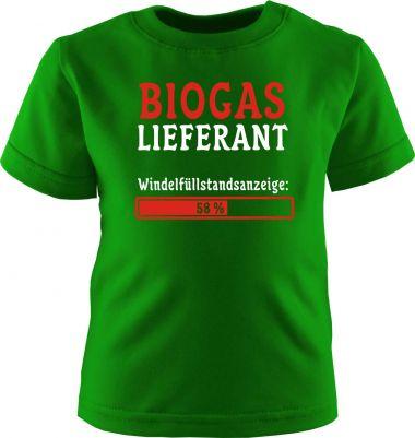 Baby und Kinder Kurzarm T-Shirt Biogaslieferant