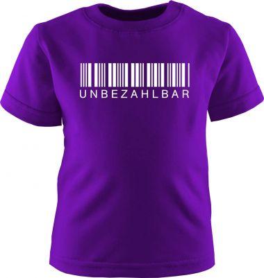 Baby und Kinder Kurzarm T-Shirt Unbezahlbar
