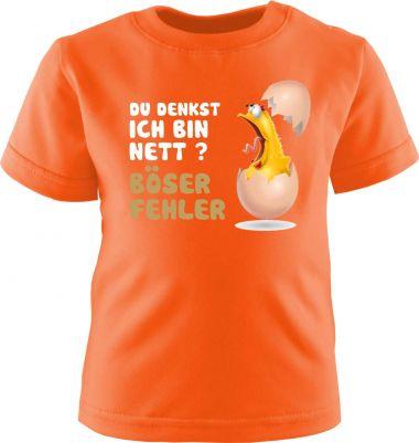 Baby und Kinder Kurzarm T-Shirt Böser Fehler