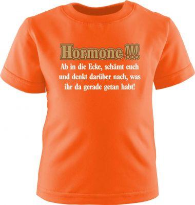 Baby und Kinder Kurzarm T-Shirt Hormone- ab in die Ecke