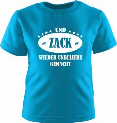 Baby und Kinder Kurzarm T-Shirt ZACK und wieder unbeliebt gemacht
