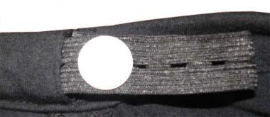 groessenverstellbares Bauchband mit Designerstueck