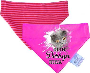 Hunde Durchzugs-Halstuch uni/gestreift