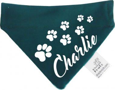 Tier Durchzugs-Halstuch uni/gestreift mit Wunschdruck / Hundehalstuch