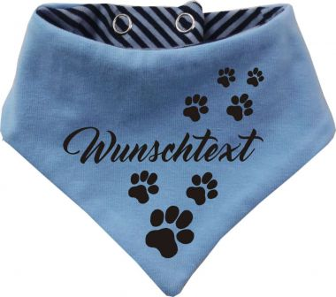 Dogs reversible scarf uni / striped