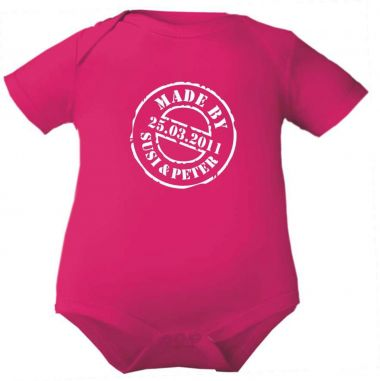 Baby Body Mady by und Geburtsdatum des Babys