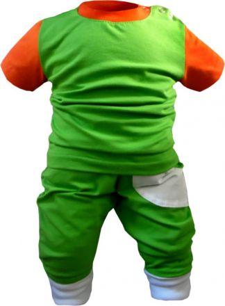 Kinder Pumphose lang multicolor mit 1 kleinen Tasche
