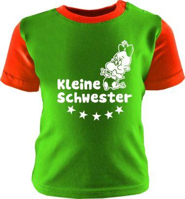 Baby und Kinder Shirt kurzarm Multicolor Kleine Schwester