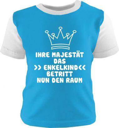Baby und Kinder Shirt kurzarm Multicolor Ihre Majestät das Enkelkind betritt nun den Raum