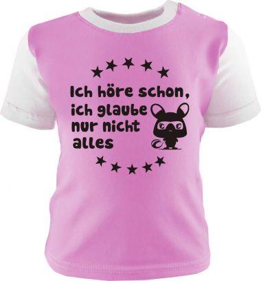 Baby und Kinder Shirt kurzarm Multicolor Ich höre schon, ich glaub nur nicht alles
