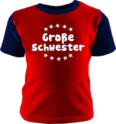 Baby und Kinder Shirt kurzarm Multicolor Große Schwester /COOK