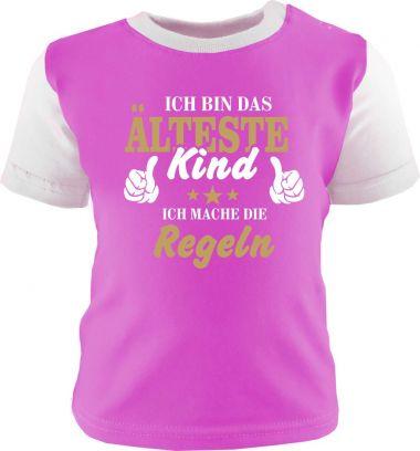 Baby und Kinder Shirt kurzarm Multicolor Ich bin das älteste Kind
