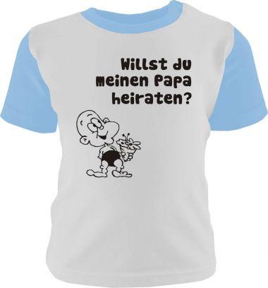 Baby und Kinder Shirt kurzarm Multicolor Willst du meinen Papa heiraten