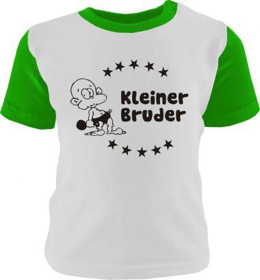 Baby und Kinder Shirt kurzarm Multicolor Kleiner Bruder /COOK
