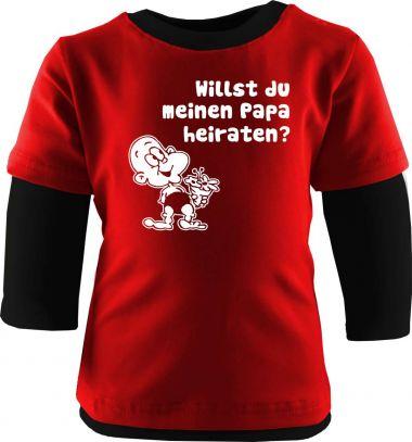 Baby und Kinder Shirt Langarm Multicolor Willst du meinen Papa heiraten