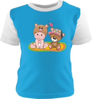 Baby und Kinder Shirt kurzarm Multicolor Kleiner Fratz & Friends Teddy