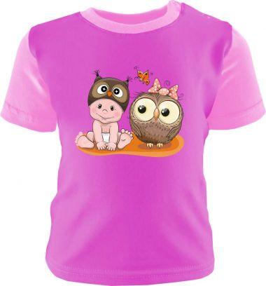 Baby und Kinder Shirt kurzarm Multicolor Kleiner Fratz & Friends Eule