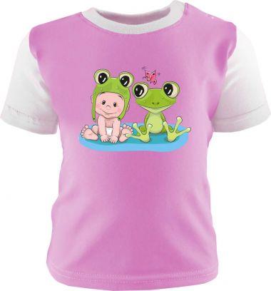Baby und Kinder Shirt kurzarm Multicolor Kleiner Fratz & Friends Frosch