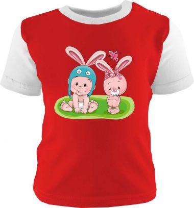 Baby und Kinder Shirt kurzarm Multicolor Kleiner Fratz & Friends Hase