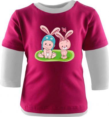 Set Baby Ohren Mütze und Halstuch mit Sternchen