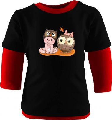 Baby und Kinder Shirt Multicolor Kleiner Fratz & Friends Eule