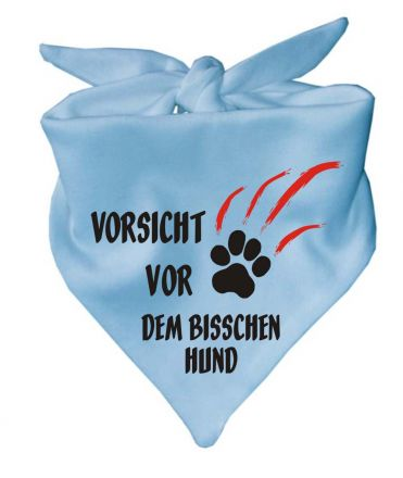 Dreieckstuch Hundehalstuch Vorsicht vor dem bisschen Hund