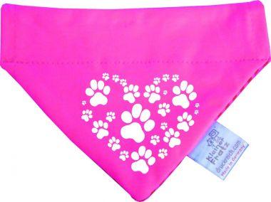 Hunde Durchzugs-Halstuch gestreift Herz aus Pfoten
