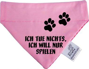 Hunde Durchzugs-Halstuch gestreift Ich tue nichts will nur spielen