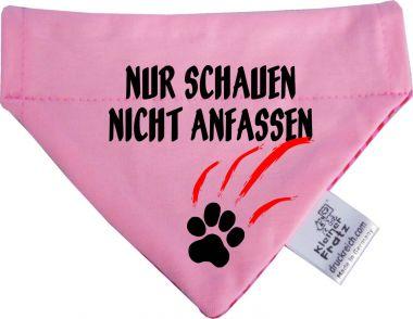 Hunde Durchzugs-Halstuch gestreift Nur schauen nicht anfassen