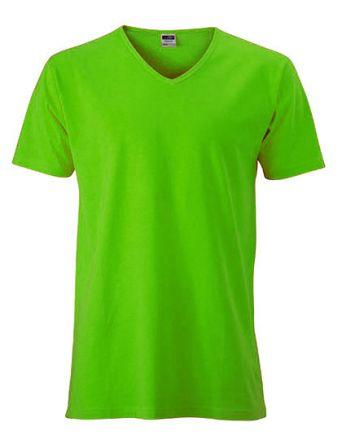 Men`s Slim Fit V-T  / T-Shirt V-Ausschnitt körpernah