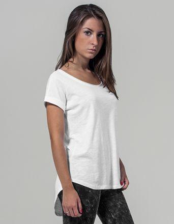 Ladies Long Slub Tee Shirt