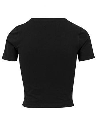 bauchfreies Ladies Cropped Tee Shirt