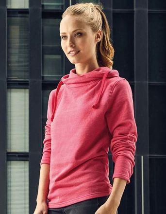 Ladie Kasak-Sweatshirt mit hohen überkreuzten Kragen