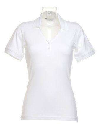 Ladie V-Neck Polo Shirt