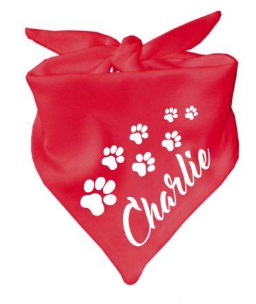 Dog triangular scarf with design 6
