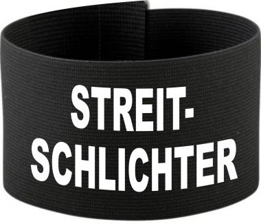 größenverstellbare Klett-Armbinde mit STREITSCHLICHTER / 10 cm Höhe